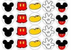 Mickey Mouse Template, Mickey Mouse Stickers, Mickey Mouse Classroom, Mickey Mouse Design, Fiesta Mickey Mouse, Mickey Party, Mickey Mouse Birthday, Luau Party Crafts, Mickey And Friends
