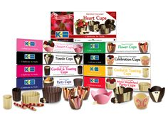 Chocolate Cups  Fill & Serve. Very elegant and great for any dinner party! www.KaneCandy.com