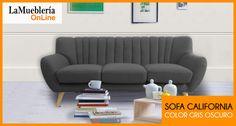 Sofa California gris oscuro en stock en la Muebleria OnLine