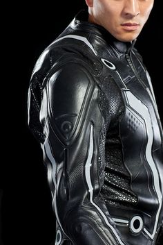 Tron inspired motorcycle jacket that lights up! #Tron #Jacket #Motorcycle $498