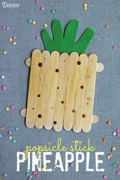 Popsicle Stick Pineapple - Kid Craft