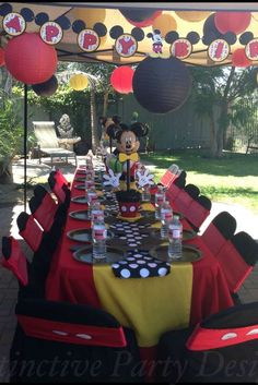Mickey Mouse Birthday Party table!