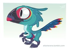 Little Raptor by *TerminAitor on deviantART ★ || CHARACTER DESIGN REFERENCES (www.facebook.com/CharacterDesignReferences & pinterest.com/characterdesigh) • Love Character Design? Join the Character Design Challenge (link→ www.facebook.com/groups/CharacterDesignChallenge) Share your unique vision of a theme every month, promote your art and make new friends in a community of over 20.000 artists! || ★