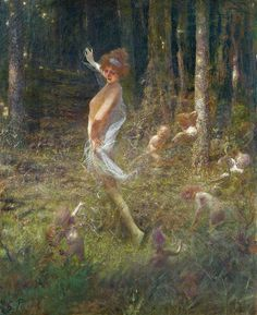 'Dancing Fairies' by Georges Picard (French, 1857-1946),