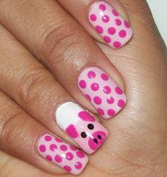 decoracion uñas para niñas Love Decorations, Pig Art, Pink Day, Creative Nails, Love Nails, Diy Nails, Little Things, Nail Polish, Make Up