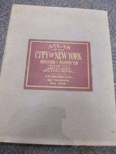 BROMLEY ELEPHANT FOLIO ATLAS OF MANHATTAN NY 1932 VOL 5 145TH-SPUYTEN DUYVIL