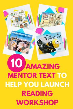 Here is my list of mentor text to use to launch reading workshop! The main goal of launching reading workshop is to establish norms and routines in your classroom that will help you and your students make the most of your year, so you can REALLY use any text your students will enjoy, but these are my absolute favorites! Teaching 5th Grade, 5th Grade Reading, Help Teaching, Teaching Reading, Guided Reading, Reading Resources, Reading Strategies, Reading Comprehension, Schools First