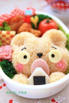 Hungry bear bento    #food #bento