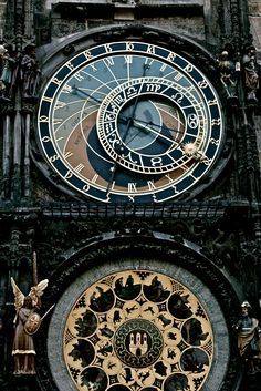 Prague Orloj, a medieval astronomical clock installed in 1410. It's the third-oldest astronomical clock in the world and the oldest one still working. Czech Republic - June 5, 2010