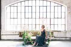 natural lighting + grecian dress from BHLDN