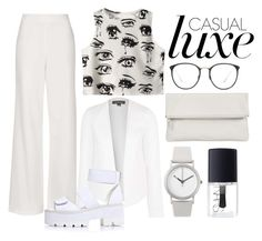 """Casual white"" by yanavakarchuk on Polyvore"