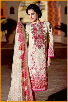 Gul Ahmed Spring Summer Collection 2016  #SummerDresses #SpringDresses #GulAhmedCollection #Dresses