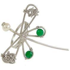 Emmanuela.gr - Handmade Jewelry - Brooches :: Silver & Bronze Dragonfly Brooch