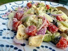 Tortellini pasta salad. I love tortellini!