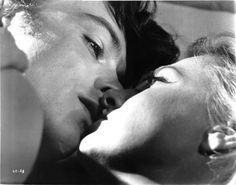 "Actor Alain Delon (b. 1935), with actress Romy Schneider (1938-1982), in Jacques Deray's film, ""La Piscine,"" 1969."
