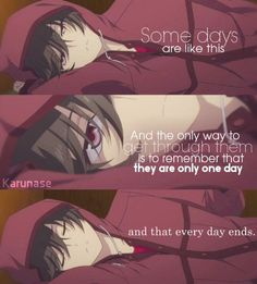 """Some days are like this. And the only way to get through them is to remember that they are only one day, and that every day ends."" Anime: Charlotte  http://karunase.tumblr.com"