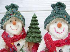 Vintage Schneemann Dekofigur Weihnachten 80er Winter | Etsy