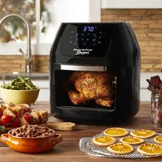 6 QT Power Air Fryer Oven Plus- 7 in 1 Cooking Features with Professional Dehydrator and Rotisserie, 6 Qt Black Power Air Fryer Xl, Rotisserie Oven, Air Fryer Oven Recipes, Best Air Fryers, Chicken Parmesan Recipes, Air Frying, Asparagus Recipe, Pampered Chef, Chicken And Vegetables