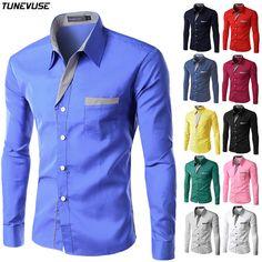Nuevo Mens Ocasionales Adelgazan Las Camisas de Manga Larga Dresse Formal de Negocios Camisas Camisa Masculina Camisas Casuales Tamaño Asiático M-4XL 8012