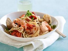 Get Giada De Laurentiis's Grilled Seafood Pasta Fra Diavolo Recipe from Food Network