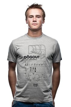 Dögout T-shirt by Jurgen van Zachten from Locografix for COPA. COPA retro football shirts, T-shirts and more.