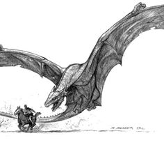 It's a wyvern but whatever (love this art😍) Fantasy Monster, Monster Art, Mythical Creatures Art, Magical Creatures, Creature Concept Art, Creature Design, Fantasy Dragon, Fantasy Art, Dragon Sketch