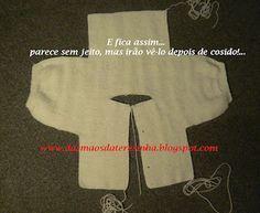 Das Mãos da Teresinha: Casaco de tricô para bebé 0-3 meses, com PAP (já…