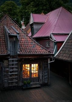 """Bryggen is an area that includes 61 """"wooden buildings—East of Vågen in Bergen, Norway—with byggeplan and building types from pre-Hanseatic periods"""" and from the Hanseatic period.The city of Bergen ..."""