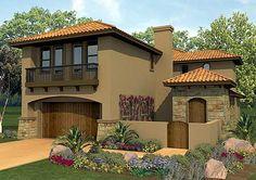 Spanish Courtyard Home Plan