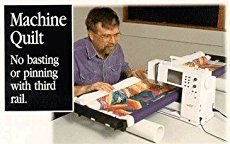 John Flynn, a nationally known quilter and teacher, has developed a quilting frame that works well for both hand and machine quilting. The frame is light, easy to use and