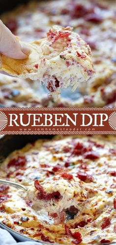 10 minutes · Serves 12 · Your favorite sandwich now in a cheesy and savory dip for game day! Get ready to score some extra points on game day with this hearty and flavorful Reuben Dip. Served hot with rye or pita chips, this… More Reuben Dip, Reuben Sandwich, Dip Recipes, Cooking Recipes, Cooking Tips, Crock Pot Dips, Fermented Cabbage, Game Day Snacks, Rye