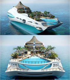 Tropical Island Paradise Superyacht (via thesuiteworld.com)