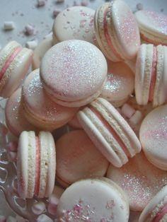Pink Glitter macarons