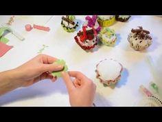 Tutorial: Cup-cake in feltro _ InArte3b - YouTube