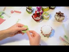Tutorial: Cup-cake in feltro _ InArte3b - YouTube