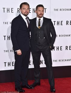 Dynamic duo: Leonardo DiCaprio and Tom Hardyhit the red carpet for the Los Angeles premie...