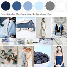 A Winter Palette of Shades of Blue http://www.theperfectpalette.com/p/color-palettes_17.html