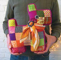 Sweet DIY Craft: sew a patchwork Scottie dog