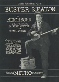 Vecinos (1920) EEUU. Dir: Buster Keaton e Edward F. Cline. Curtametraxes. Comedia. Romance - DVD CINE 2450-II