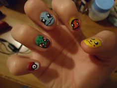 Pokemon Nails done by Yinky Xiong