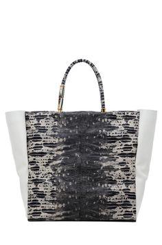 STYLE STAPLES 2013: LANVIN Moonriver Shopping Bag in Black Multi