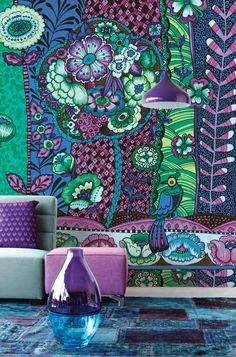 Go big or go back to beige. And nobody wants that. Wouldn't you far prefer perch yourself in this peacock wonderland?