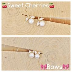 They finally are here. Sweet cherries & Bows yellow gold earrings in K14 are available. SHOP ONLINE www.stelov.com  #stelov #slv #newentries #earrings #jewelry #pearls #yellowgold #shoponline #worldwideshipping