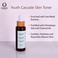The anti ageing toner works best for matured skin which is a perfect blend of Himalayan Salt, Frankincense Oil and Chamomile water to grant youthful skin. Frankincense Oil, Skin Toner, Facial Care, Anti Aging, Healing, Touch, Face Care Routine, Therapy, Recovery