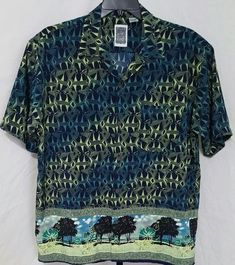 Details about Mens Hawaiian Shirt Size Large Ocean Current Vintage Original  Surf Beach Tiki ac08e530d