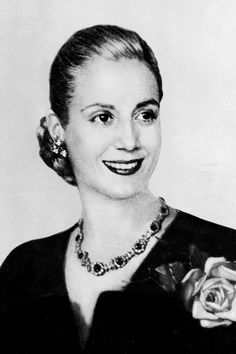 Eva Duarte de Peron, wife of the president of the Argentine Republic, has died from cancer, aged 33. 26 July 1952