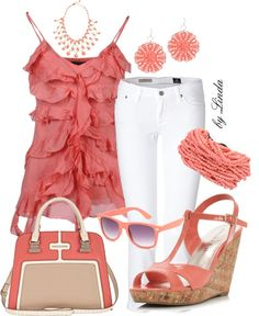 Designer Clothes, Shoes & Bags for Women Cute Summer Outfits, Pretty Outfits, Casual Outfits, Cute Outfits, Cute Fashion, Look Fashion, Fashion Outfits, Womens Fashion, Summer Fashion Trends