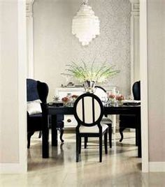 Cly Black And White Dining Room Rooms
