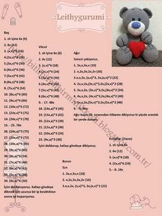 Amigurumi Bear Pattern Crochet Bear Pattern by VenelopaTOYS - Salvabrani Discover thousands of images about Cochon rose amigurumi pattern Temps libre: Teddy Ted (plus - Salvabrani This post was discovered by Та Image Article – Page 856317316627153881 Crochet Bear Patterns, Crochet Bunny Pattern, Amigurumi Patterns, Crochet Diy, Crochet Dolls, Knitted Teddy Bear, Amigurumi Doll, Charts, Bear Doll