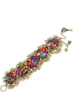 CARNIVAL MULTI CLUSTER BRACELET MULTI accessories jewelry bracelets fashion
